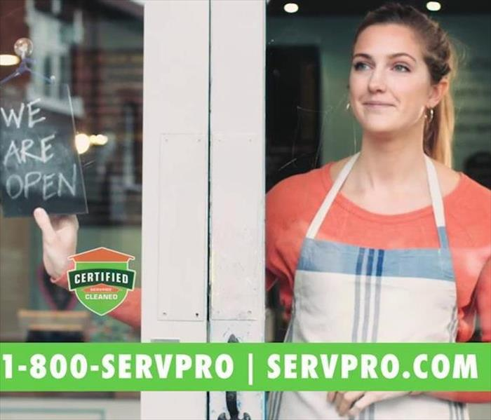Certified: SERVPRO Cleaned seal in window
